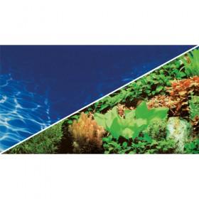 HOBBY Foto-Rückwand Pflanze/Marin Blue 50cm hoch (30998) pro Meter