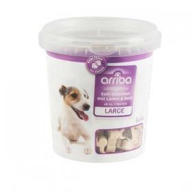 arriba Soft-Knochen Large 500g Eimer mit Lamm und Reis Hundesnack (211847)