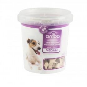 arriba Hundesnack Soft-Knochen Mini 500g mit Lamm & Reis Eimer (210295)