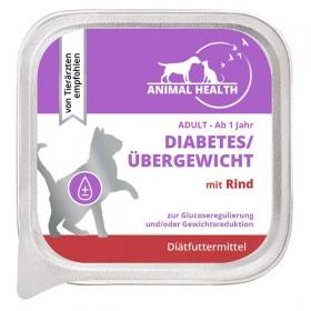 Animal Health Katze Adult 100g Diabetes/Übergewicht mit Rind