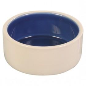 TRIXIE Keramiknapf creme/blau Vogel in 3 Größen