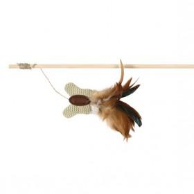 TRIXIE Spielangel 45cm mit Schmetterling&Federn (45733)