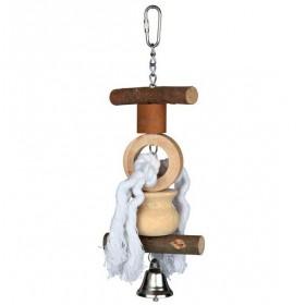 TRIXIE Spielzeug Tau/Glocke Natural Living in 2 Größen