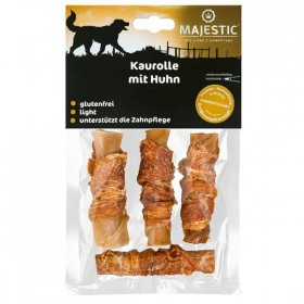 MAJESTIC Kaurolle mit Huhn 90g Tüte Hundesnack (679005)