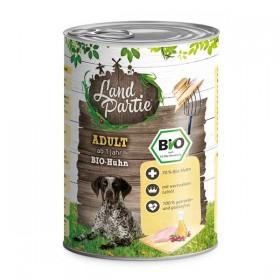 LandPartie Bio Hund Adult 400g Dose mit Bio-Huhn und Karotte (812181)