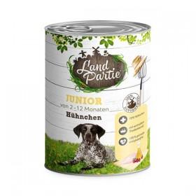 LandPartie Hund Junior Hühnchen Dose