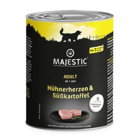 MAJESTIC Hund Adult 800g Dose Hühnerherzen&Süßkartoffel (612294)