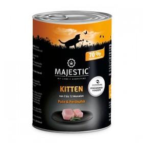 MAJESTIC Katze Kitten 400g Dose Pute und Perlhuhn (612906)