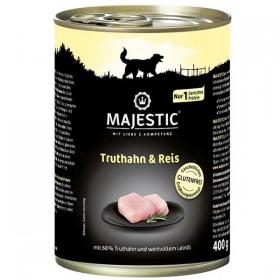 MAJESTIC Hund Truthahn&Reis 400 g Dose