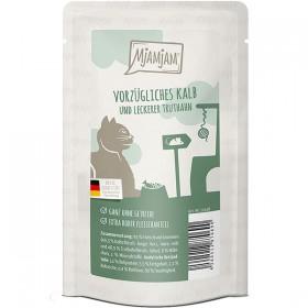 MjaMjaM 125g Pouch Katzennassfutter vorzügliches Kalb&Truthahn an leckeren Möhrchen (11018)