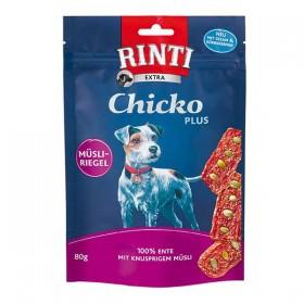RINTI Extra Hundesnack Chicko Plus Müsliriegel 80g