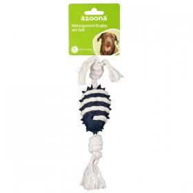 azoona Hundespielzeug Rugby am Seil 25cm blau (712631)