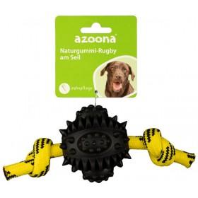 azoona Hundespielzeug Rugby am Seil 20cm schwarz (712640)
