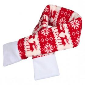 TRIXIE Weihnachtsschal rot/weiß Hund