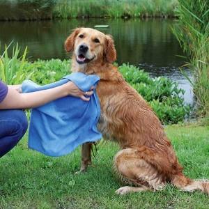TRIXIE Handtuch blau Top Fix Hund
