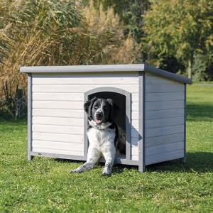 TRIXIE Hundehütte Flachdach grau in S-M, M-L und L