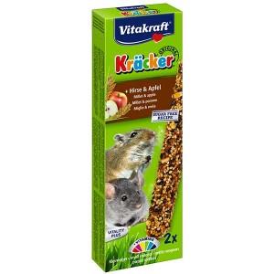 Vitakraft Kräcker® Original + Hirse & Apfel Kleinnager 2St./60g