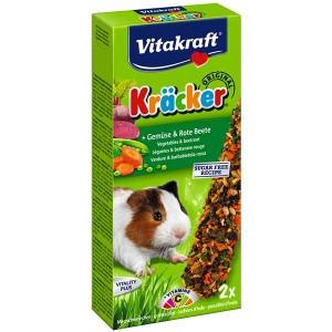 Vitakraft Kräcker® Original + Gemüse & Rote Beete Meerschweinchen 2St./112g