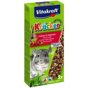 Vitakraft Kräcker® Original + Kräuter & Hagebutte Chinchilla 2St./112g