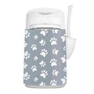 LitterLocker Fashion Bezug Katzenpfoten grau