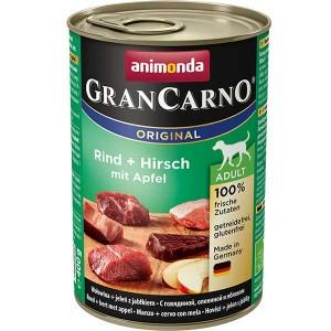 Rind + Hirsch mit Apfel