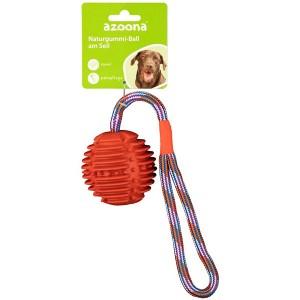 Ball am Seil 34cm rot