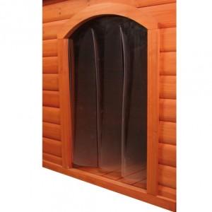 Kunststofftür für Satteldach Hundehütte