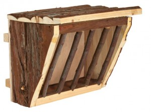 TRIXIE Heuraufe Holz Deckel Natural Living 20x15x17cm