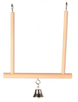 TRIXIE Trapezschaukel 12x13cm Holz/Glocke