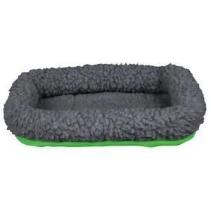 Kuschelbett grau/grün Kleintiere (30x22cm)