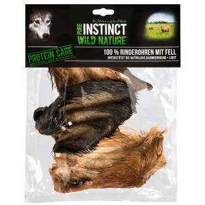 PURE INSTINCT Rinderohren mit Fell sensitiv 3 St.