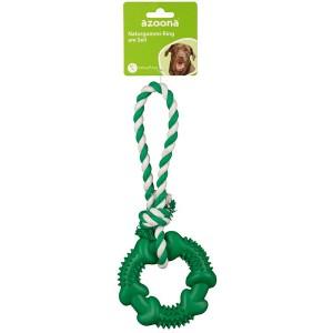 Ring am Seil 28cm grün