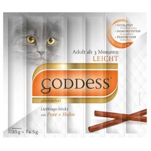 GODDESS Adult Lieblings-Sticks für Katzen 7 Stück mit Pute und Huhn