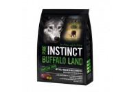Buffalo Land mit Büffel und Strauß